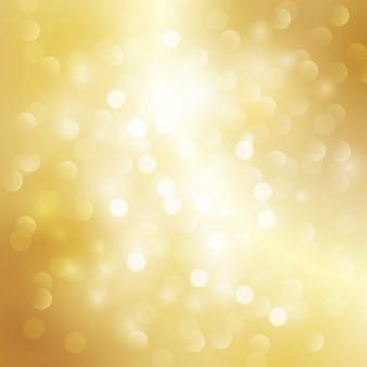 Fundo dourado com luzes