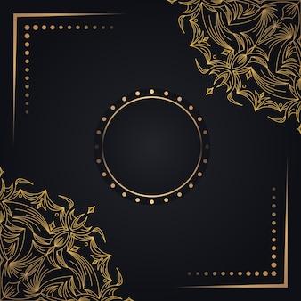 Fundo dourado com mandala
