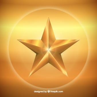 Fundo dourado da estrela