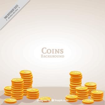 Fundo dourado das moedas