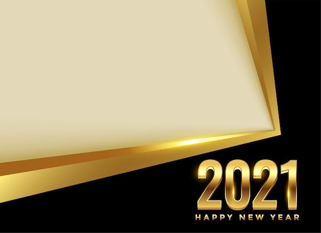 Fundo dourado de feliz ano novo de 2021