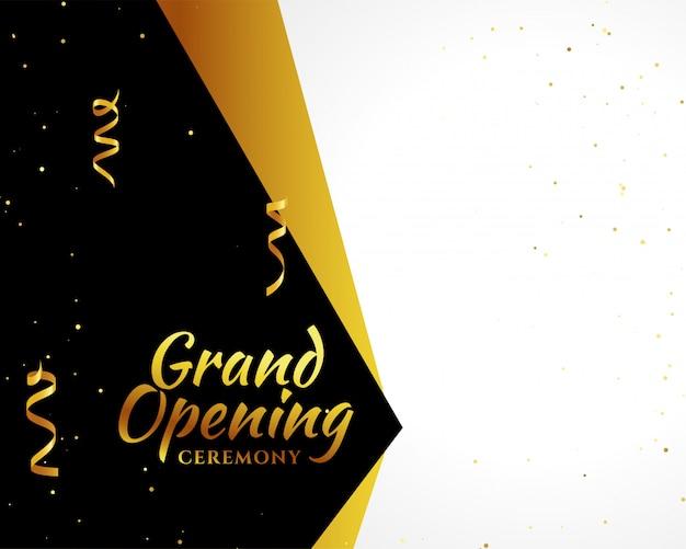 Fundo dourado de inauguração