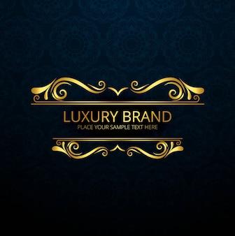 Fundo dourado de logotipo da marca de luxo