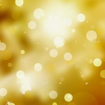 Fundo dourado de natal festivo.