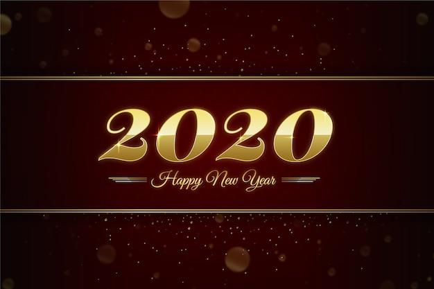 Fundo dourado do ano novo 2020