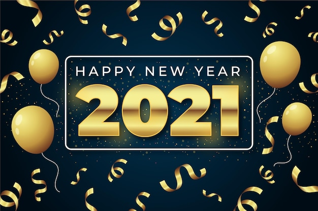 Fundo dourado do ano novo 2021