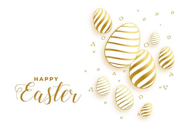 Fundo dourado do festival dos ovos do dia da páscoa