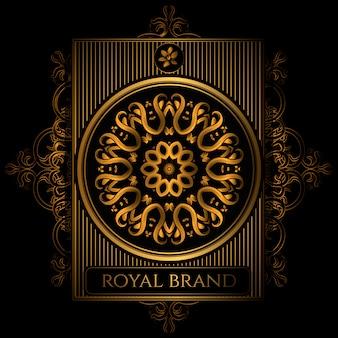 Fundo dourado do logotipo