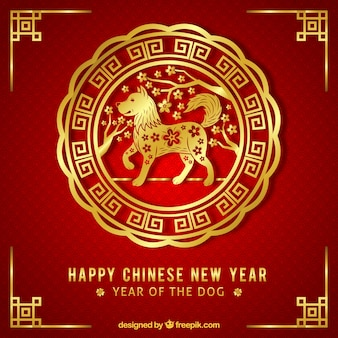Fundo dourado dourado elegante de ano novo