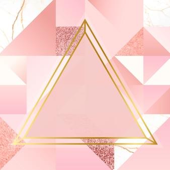 Fundo dourado e rosa
