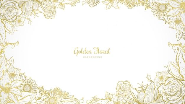 Fundo dourado floral