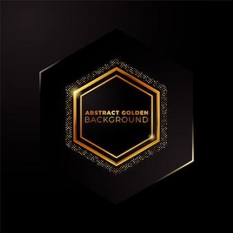 Fundo dourado hexagonal. abstrato base hexagonal com cor dourada.