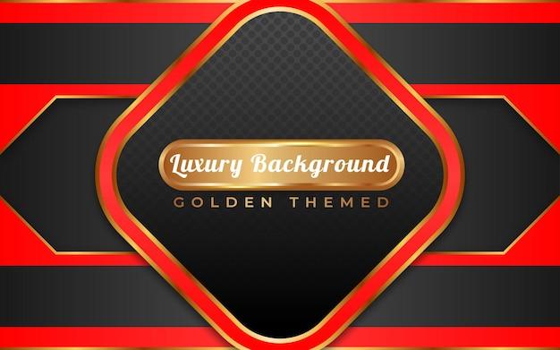 Fundo dourado luxuoso vermelho e preto