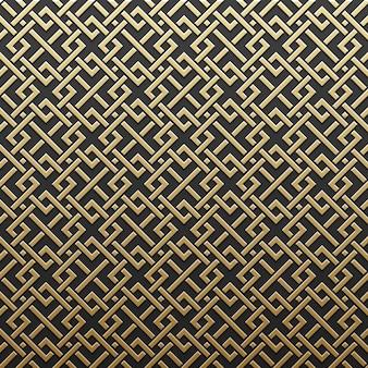 Fundo dourado metálico com padrão geométrico. elegante estilo de luxo.