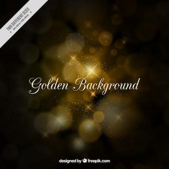 Fundo dourado no estilo bokeh