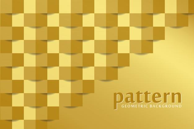 Fundo dourado padrão