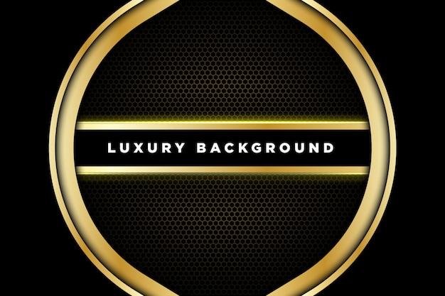 Fundo dourado preto luxuoso de 3d