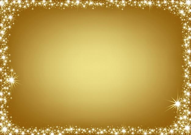 Fundo dourado rodeado de brilhos