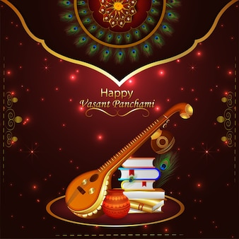 Fundo e elemento criativo da happy vasant panchami