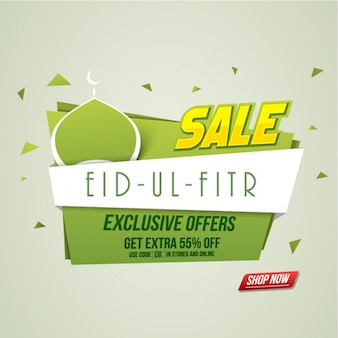 Fundo eid mubarak com ofertas exclusivas