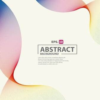 Fundo elegante abstrato colorido onda