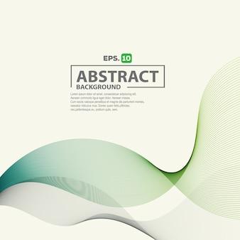 Fundo elegante abstrato onda verde