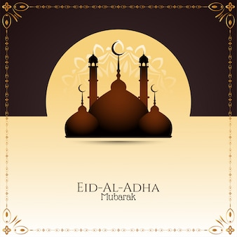 Fundo elegante bonito de eid-al-adha mubarak