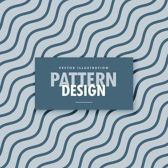 Fundo elegante cinza e azul com linhas onduladas diagonais