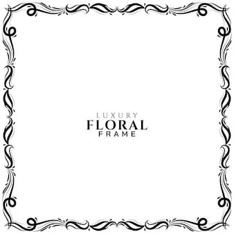 Fundo elegante com bela moldura floral
