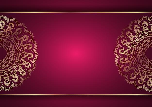 Fundo elegante com desenho de mandala decorativa