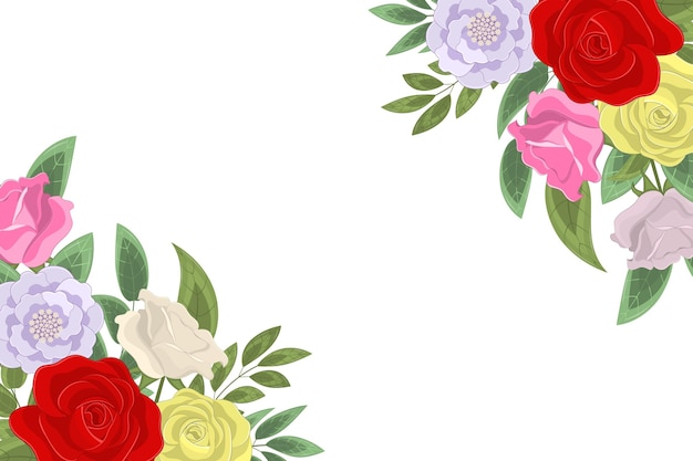 Fundo elegante com flores desabrochadas