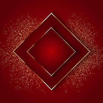 Fundo elegante com glitter dourado
