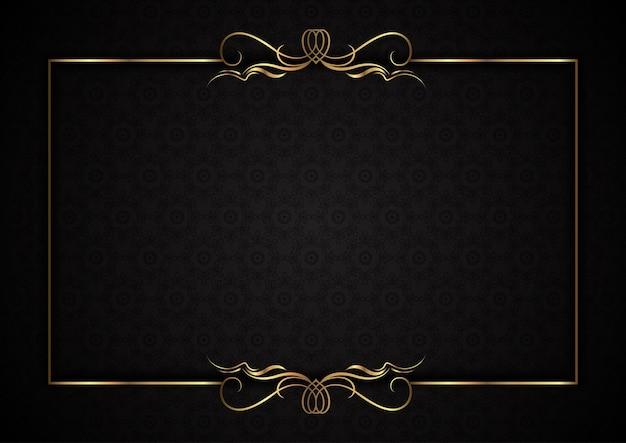 Fundo elegante com moldura dourada decorativa