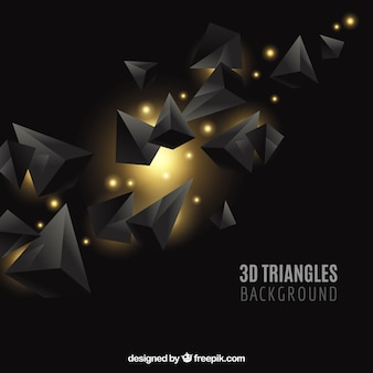 Fundo elegante com triângulos 3d