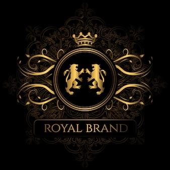 Fundo elegante da marca real