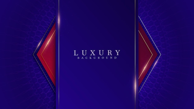 Fundo elegante da sombra vermelha e azul. conceito moderno do estilo 3d do corte do papel luxuoso realista.