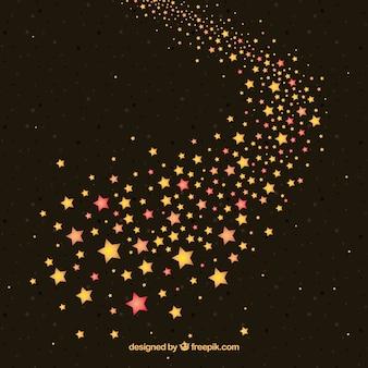 Fundo elegante da trilha da estrela