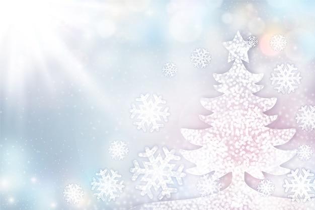 Fundo elegante de árvore de natal com espaço de cópia