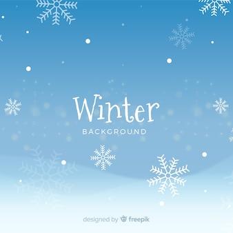 Fundo elegante de inverno com flocos de neve