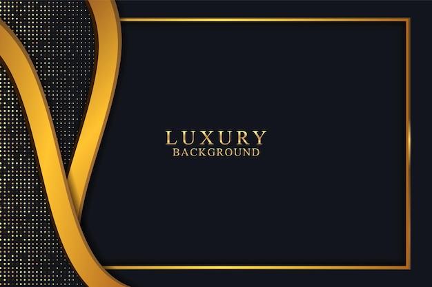 Fundo elegante de luxo preto com ouro escuro e textura brilhante