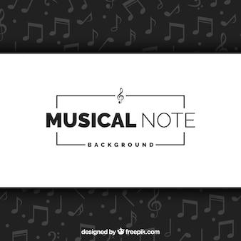 Fundo elegante de notas musicais