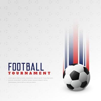 Fundo elegante de torneio de futebol de futebol