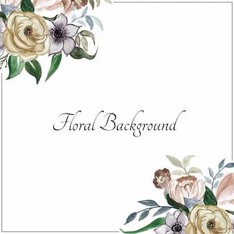 Fundo elegante flor aquarela