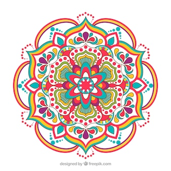 Fundo elegante mandala colorida