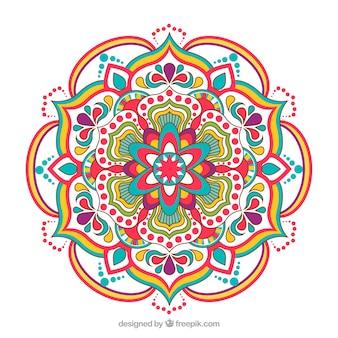 Fundo elegante mandala colorida