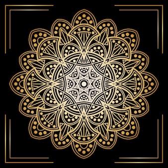 Fundo elegante mandala dourada