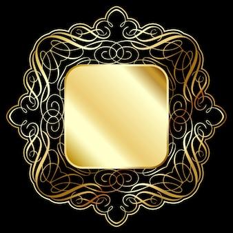 Fundo elegante moldura de ouro