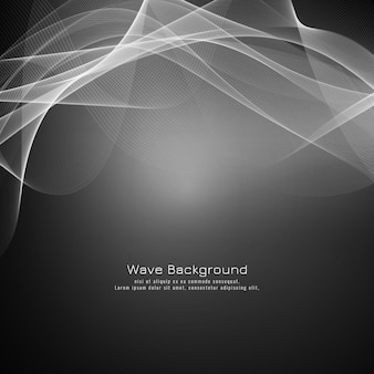 Fundo elegante onda cinza abstrato