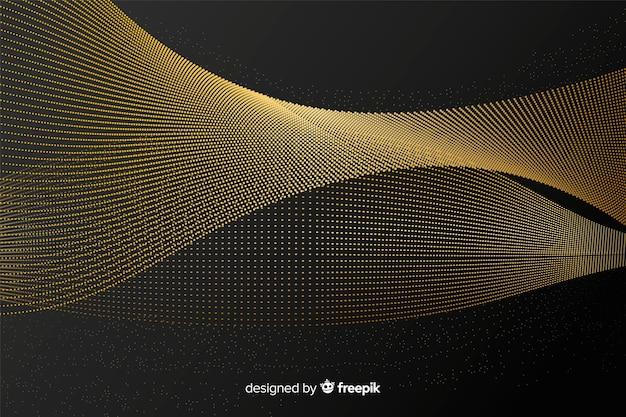 Fundo elegante onda dourada