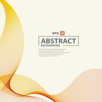 Fundo elegante onda laranja abstrata